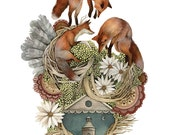 "House of Fox // 8""x10"" Art Print // Forest Illustration"