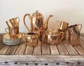 Vintage Gold Porcelain Tea Set Made In Japan