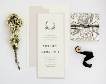Rustic Chic Wedding Invitation