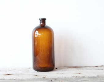 Large Glass Apothecary Medicine Bottle