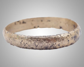 Ancient Viking Mans  Wedding Band Jewelry C.866-1067A.D. Size 10 1/2 (19.8mm)(Brr776)