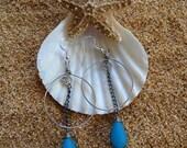 Sea Glass Earrings // Blue Sea Glass Earrings