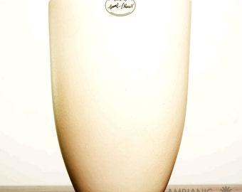 White Ceramic Vase Modernist Clean Lines Designer