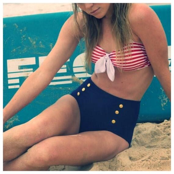 Sailor Bikini Set w/ Halter tie