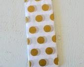 Gold Polka Dot Tissue Paper - 8 sheets