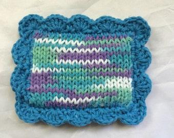 Knit Scrubby / Pot Scrubber / Dish scrubbie / Dish Cloth / Sponge / Nylon Scrubbie / Scrubber / Water Lilies
