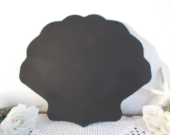 Clam Shell Chalkboard Wall Black Chalk Board Beach Cottage Coastal Seaside Tropical Island Home Decor Summer Wedding Reception Decoration