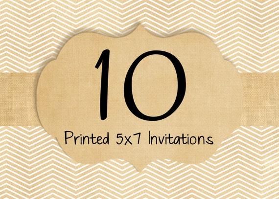 10 Printed Invitations