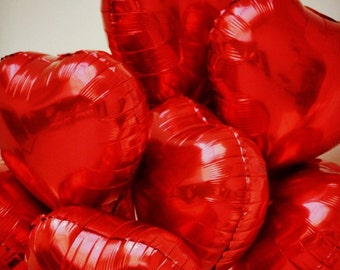 """10"""" Red Heart Balloon/birthday party balloons/wedding/Anniversary Party/Valentines Party"""