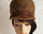 Christian Dior hat tall bucket style hat 1960's mod British James Bond style hat