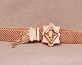 Antique Victorian Mesh Slide Bracelet, 1890's, Seed Pearls, Gold Filled, Free Shipping