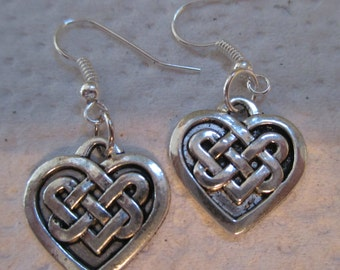 Celtic Pattern Silver Earrings