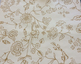 Vintage 1960s floral wallpaper by the yard