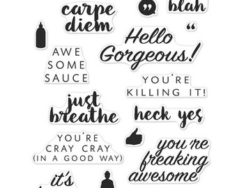 """Hero Arts Clear Stamps 4""""X6"""" Hello Gorgeous"""
