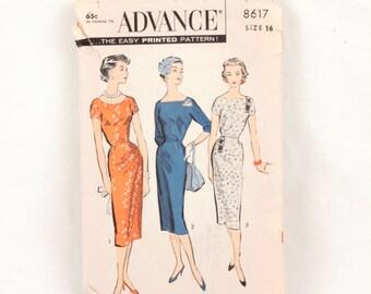 1950s Advance 8716 // sheath dress