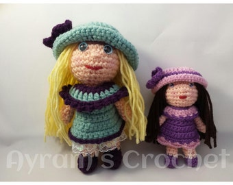 Crocheted Dolls- Sisters