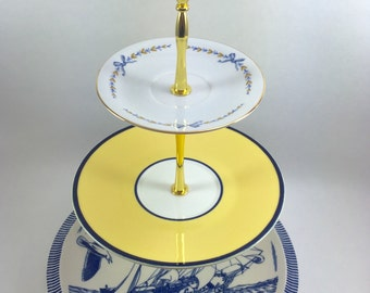 Beyond The Sea 3 Tier Cake Stand Tidbit Tray