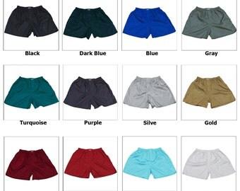FREE SHIPPING Boxer Shorts Thai Silk Men's Underwear Size M-L-XL-2XL Made in Thailand