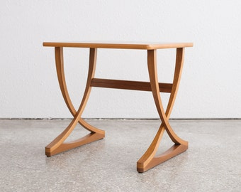 Mid Century Teak X Base Side Table 2/2