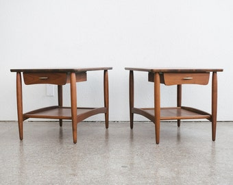 Pair of Mid Century Storage Side Tables