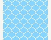 SUPER SALE Blue Quatrefoil from Makower Fabrics