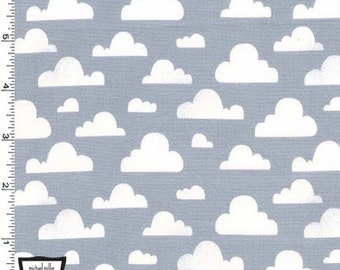 Cloudy Day on Gray from Michael Miller's Pitter Patter Collection
