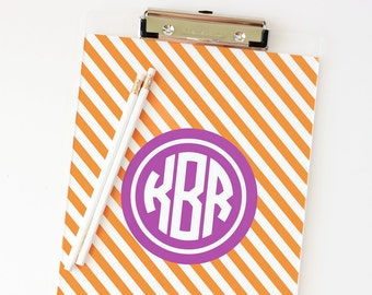 Monogram Clipboard Sorority Sister Gifts Girls Office Supplies Monogrammed School Supplies Acrylic Clipboard Personalized Desk Accessories