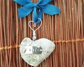 Heart Ornament,Faith Stone Hearts, Beach Decor