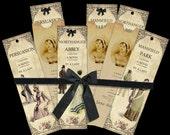 Another Three Jane Austen bookmarks and envelope digital collage sheet. DIGITAL DOWNLOAD