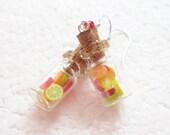 Jar of Fruit Earrings. Polymer Clay