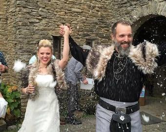 Dark Faux Fox - Viking Wedding - Unisex Furs - Faux Fur Cape