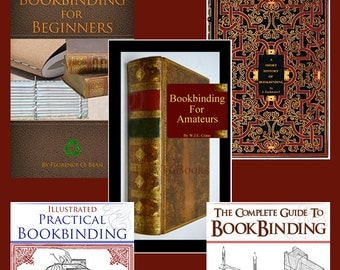 New Collection of 5 x TOP Selling RARE BOOKBINDING Books ~ Practical Lessons on Techniques with Illustrations Printable Instant Download
