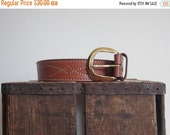 Brown Leather Belt / Wide Leather Belt / 80s Belt / Gold Buckle / Cowboy / Cowgirl / Western / USA / Mens Leather Belt / Womens Leather Belt