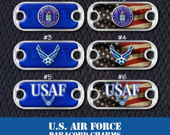 U.S. Air Force Paracord Charms - Choose your favorite design