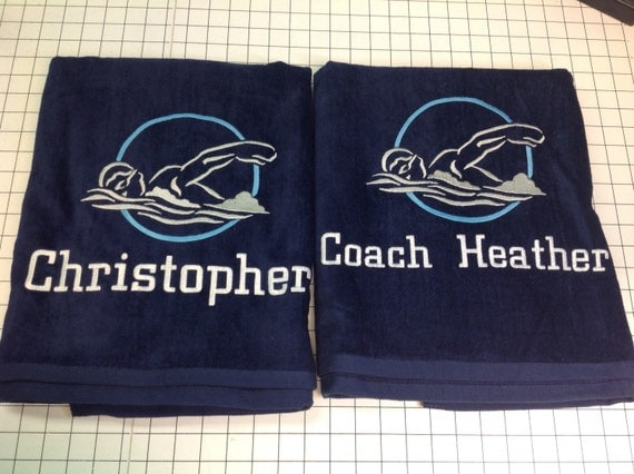 Swim towel swim team personalized beach towel pool towel for China fleet club swimming pool prices