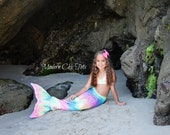 Sparkly Rainbow Swimmable Mermaid Tail