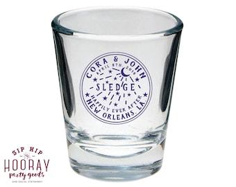 Shot Glasses, NOLA Wedding Favors, NOLA Wedding Gifts, Louisiana Wedding Favors, Crescent Water Meter Favors, Wedding Shot Glasses, 1351