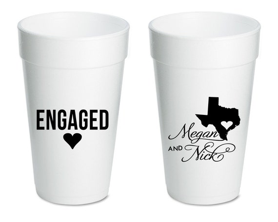 engaged cups engagement party favors wedding favor ideas