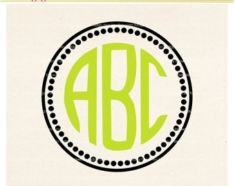 SVG small dots frames design clip art, circle monogram frames,Frames Cutting File Design, Frame V-11 DXF, EPS, cricut, silhouette studio