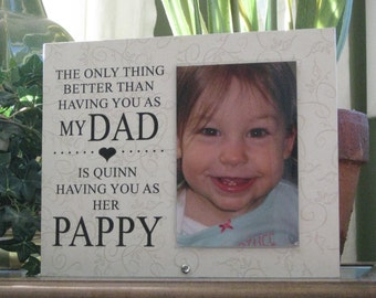 pappy gift select any grandfather name pappy frame pappy picture frame pappy photo frame 4 x 6 photo saying and paper choice