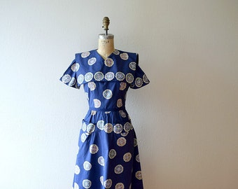 Vintage 1940s dress . Pat Premo 40s dress . small