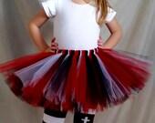 Red White and Black Tutu, Pirate Tutu, Chicago Blackhawks, Miami Heat, Football Tutu, Baby Tutu, Toddler Tutu, Girls Tutu, Birthday Outfit
