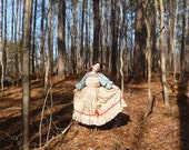 Interpretation  of ethnic Russian Costume  from the Russian North. Reserved for Svetlana
