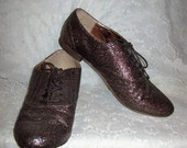 Vintage Ladies Multi Color Metallic Glitter Loafers by Call it Spring Size 10 Only 8 USD