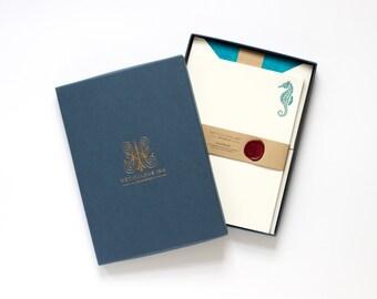 Seahorse Letterpress Letterhead Box Set