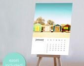 2017 calendar desk calendar beach decor calendar with easel calendar with stand beach calendar 2017 desk calendar nautical decor coastal