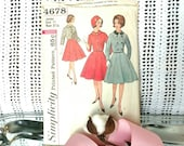 Retro Juniors Full Skirt With Bolero Pattern - Vintage Simplicity Printed Pattern, Sewing + Seamstress Tool, Well-Dressed, Spring Dresses