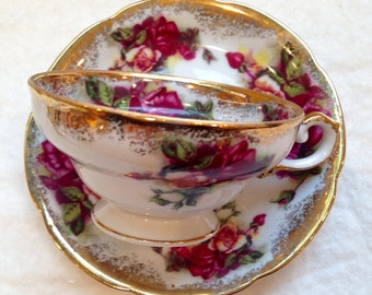 A Nice Vintage Rose Japanese Teacup
