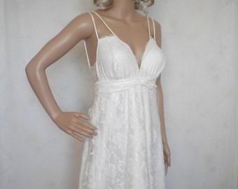 wedding dress bohemian wedding dress beach wedding dress low back fairy woodland wedding dress lace wedding dress made to order