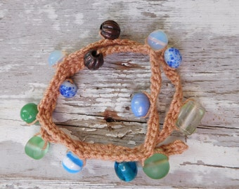 Boho Beaded Macrame Wrap Bracelet